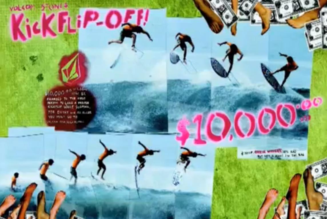 Kickflip auf einem Surfbrett!? (Volcom KickFlipOff Contest – win $10,000)